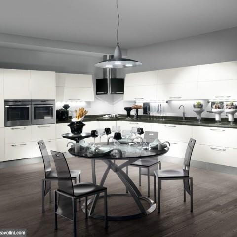 Cucina scavolini flux san gaetano arredamenti for Isola cucina circolare