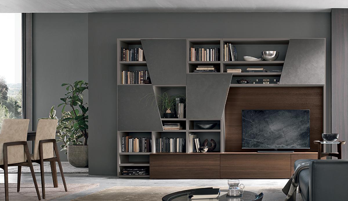 Soggiorni tomasella san gaetano arredamenti for Mobili librerie torino